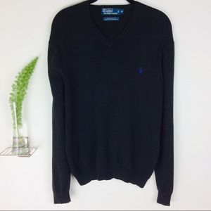 Polo Ralph Lauren Pima Cotton Black Sweater Size M